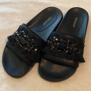 [Topshop] Jeweled Slides